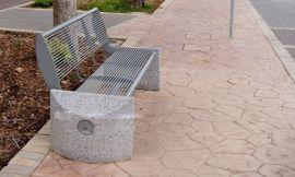 室外休息座椅,景观成品长椅,钢木靠背椅