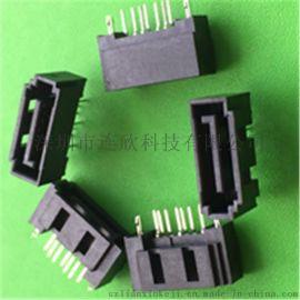 连欣供应工业连接器SATA7PIN公座全包贴片式