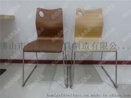 帶皮墊曲木餐椅,軟包曲木餐椅廣東鴻美佳廠家加工生產