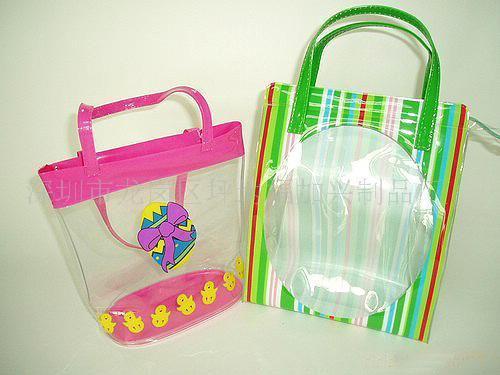 环保PVC儿童手提包,卡通PVC手挽袋,透明PVC手挽袋