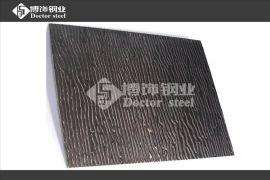 佛山博饰钢业供应304黑色镜面不锈钢水木纹花纹板,彩色不锈钢压花板,不锈钢镜面黑钛