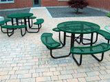 戶外休閒桌椅景區公園遊樂場室外鐵藝連體桌椅可固定