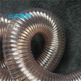 山实DN150mm工业通风除尘PU钢丝管