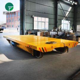 洛阳厂家喷砂房用轨道平板车格栅式电动平车