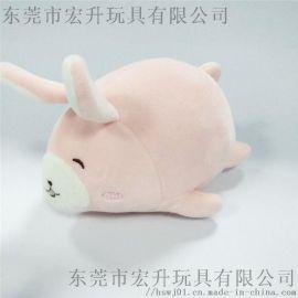 兔子毛绒玩具可来图定做加LOGO布娃娃