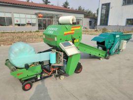 青储玉米秸秆打捆机,固定式青贮打捆机