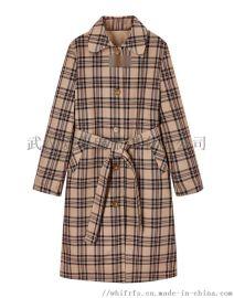 棉麻类服装进货渠道【现货】依梦长款韩版风衣外套