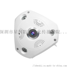 300万360度全景VR网络摄像头 无线wifi高清智能鱼眼监控摄像机海思方案