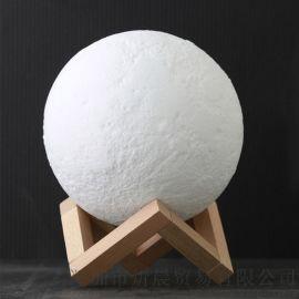 厂家订制搪胶月球灯led灯具儿童房装饰小夜灯饰灯罩