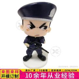 企業形象人物擺件民警卡通人物娃娃玩偶擺件工廠定制