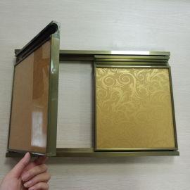 铝合金晶钢门橱柜外框晶钢门铝材