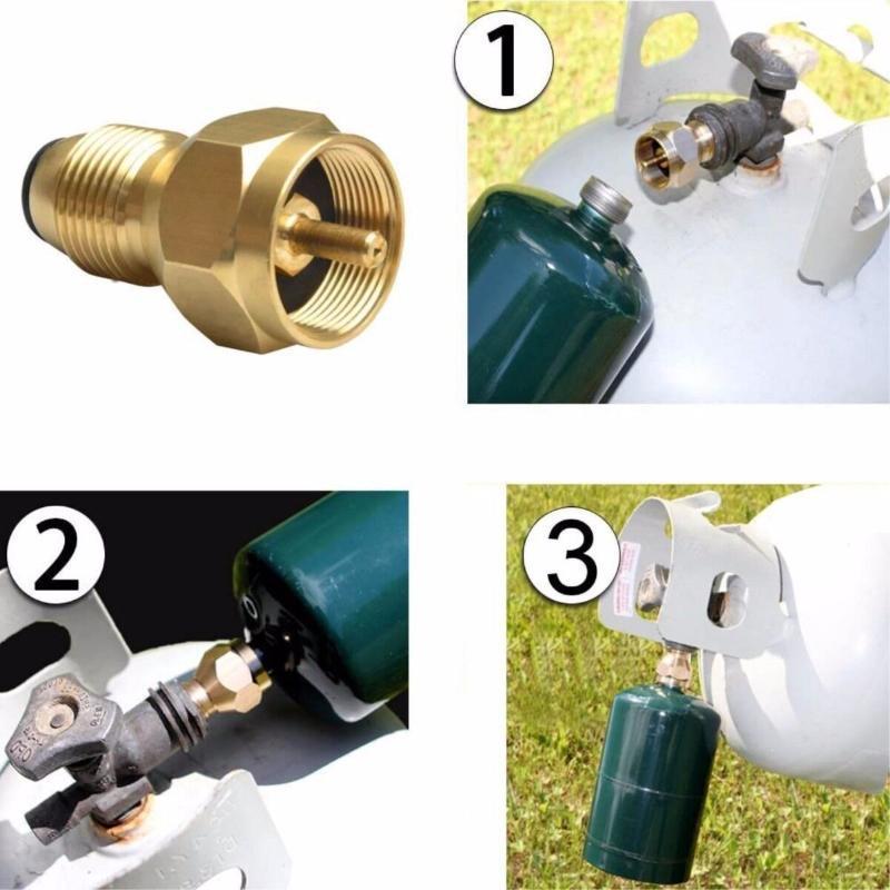 北美燃气丙烷转换充气接头压力表气罐接头组合Amazon,ebay爆款