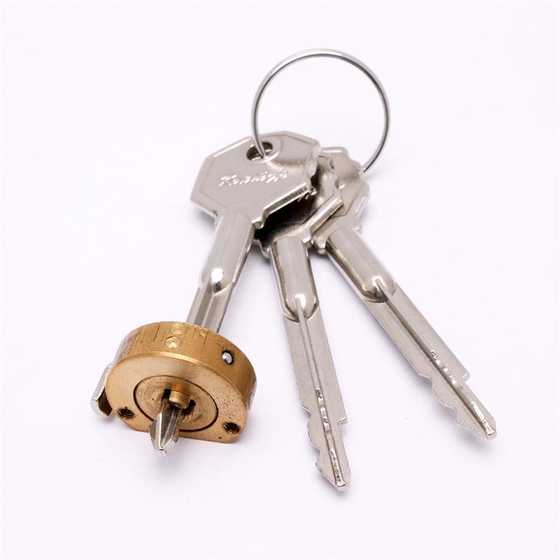 十字鎖芯 新款上市銅合金材質機械鎖優質鎖芯源頭廠家開發定製
