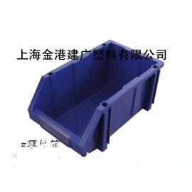 供应  A4 #塑料零件箱  组合斜口式箱  带支架塑料周转箱
