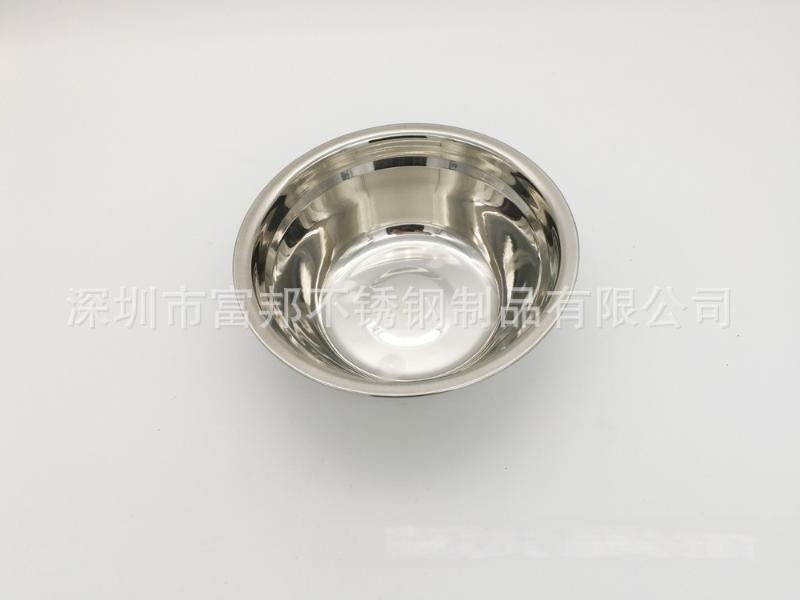 无磁不锈钢汤盆不锈钢单层汤碗打蛋盆