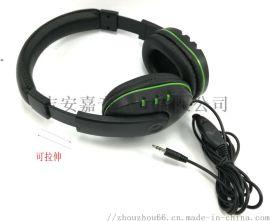头戴式耳机无唛带音量开关直线3.5立体声插头