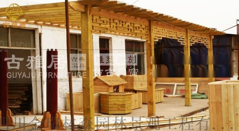 昆明景觀長廊廠,仿古長廊,遊廊廊架瑞森設計定製