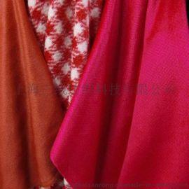 厂家批发 短顺双面绒布料 女装短顺绒毛呢面料 羊绒大衣毛呢布料