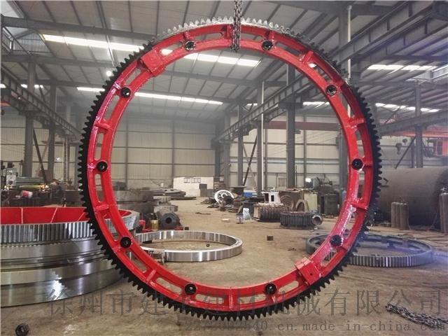 JK160齒20模數zg45材質冷卻機大齒圈輪帶鑄鋼配件