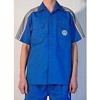 花都区夏季工作服定做 狮岭汽车维修服订制 短袖工作服加工厂