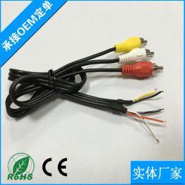 电线电缆汽车配线 电源视频音频三合   汽车车载导航智能线材