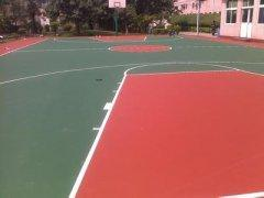 济南华兴体育承接弹性丙烯酸篮球场建设