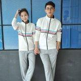 班服教師服男女情侶套裝運動服休閒衛衣外套上海定製抓絨立領開衫