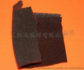 手袋运动鞋内里布 3mm黑色泡绵贴130g咖啡色拉毛布