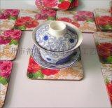 杯墊批發 密度板中纖板軟木杯墊 批發花朵杯墊