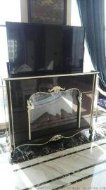 晶固  电动遥控升降电视柜 隐藏桌面升降机
