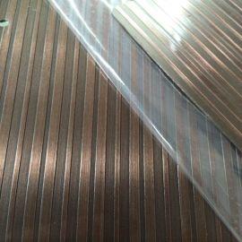 供应高比304钛金了不锈钢拉丝蚀刻不锈钢板 阳江304**拉丝不锈钢蚀刻板镀古铜加工