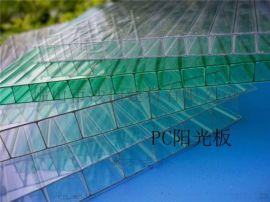 广东佛山厂家直销PC阳光板-两层/四层/蜂窝透明森意阳光板