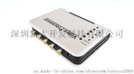 一进四出视频分配器 1分24 视频信号放大器 1拖四  接口监控用