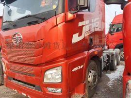 解放J6双驱锡柴高栏标箱二手货车