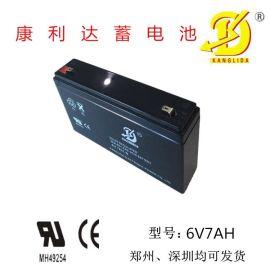 车位锁蓄电池、儿童玩具车蓄电池用康利达厂家直销的6v7AH铅酸蓄电池