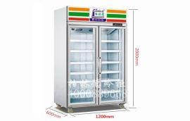 超市便利店冰饮料用的两门柜子/两门饮料柜