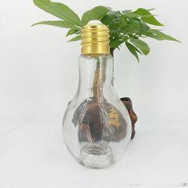 创意饮料瓶,灯泡饮料瓶,酒吧用玻璃制品