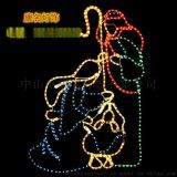 康名灯饰供应led圣诞主题图案灯 上帝造型灯