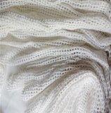 厂家直销经编针织纯棉网布 绣花女装网袋用全棉方格粗针网眼布