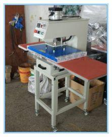 东莞带架子气动双工位热压机 东莞气动下滑式热转印服装加工设备 东莞皮革加工压唛机
