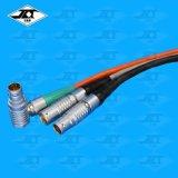 空中对接推拉自锁圆形航空插头 浮动对插电源信号延长线连接器线缆焊接