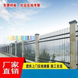 茂名河边铁艺围栏厂家 肇庆桥梁栏杆定制 项目部欧式梁栅栏现货