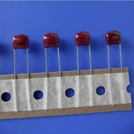 厂家  金属化聚酯膜电容器CL21金属化薄膜电容MEF103J100V LED灯电容