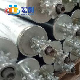 宏创厂家直销50mm动力链轮滚筒|不锈钢齿轮动力|