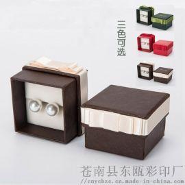2018爆款高檔珠寶首飾盒 蝴蝶結戒指盒 珍珠盒 6.5*6.5cm熱銷現貨