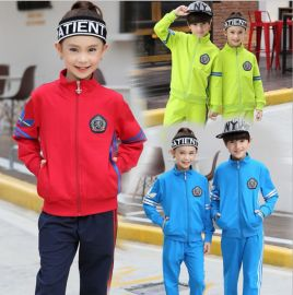 春装新款运动儿童套装幼儿园园服中小学生校服班服