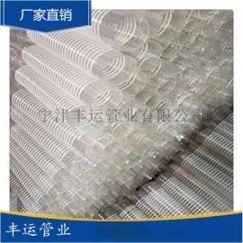 PVC吸尘风管木工集尘管除尘波纹管PVC加强筋风管