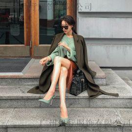 嘉贝逸飞杭州红袖女装尾货批发折扣女装 深圳服装 外贸尾货批发市场在哪里金色针织衫