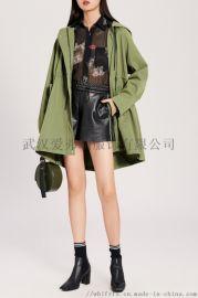 卖服装进货的地方在哪里金依台长款韩版风衣外套