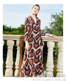 服裝網店是怎麼拿貨的希色氣質印花連衣裙貨源